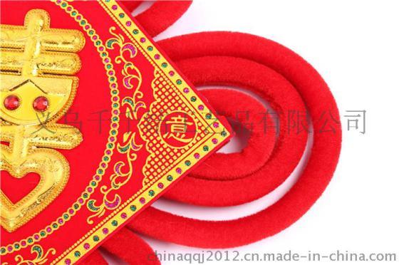 千千结中国结传统文艺装饰品中国梦木板中国结批发