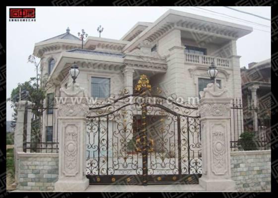 欧式别墅外墙装饰石材干挂制作