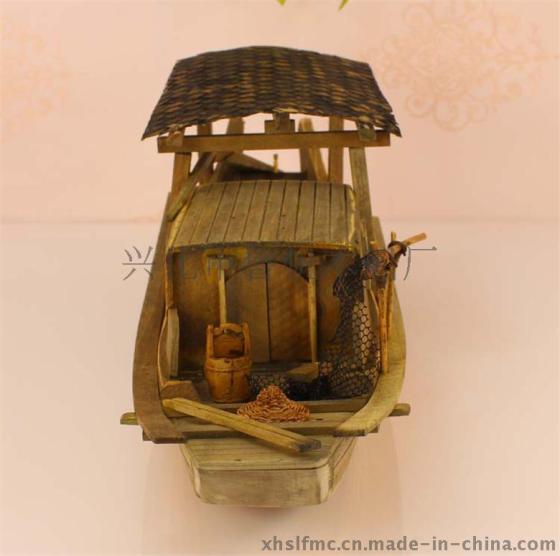 纯手工制作优质小木船模型|工作写字台优质装饰点缀