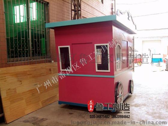 防腐木售货车 移动手推车 木质售货车 小吃车餐车售货