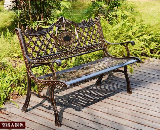 铸铝长椅户外公园椅 景区景点游乐场公园椅广场小区
