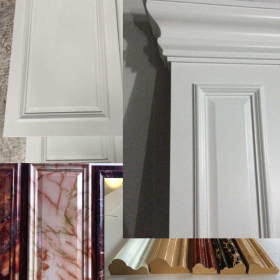 木饰面护墙板柱子木雕花木制品套装门