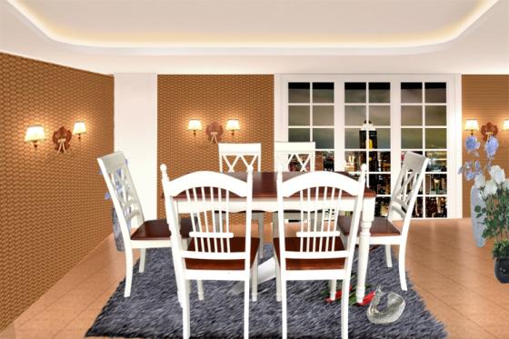 美式乡村地中海家俱实木餐桌西餐桌现代简约风格餐桌椅组合图片
